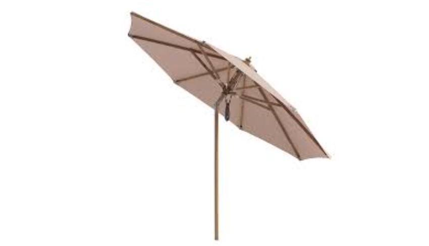 God og praktisk parasol med tilt.