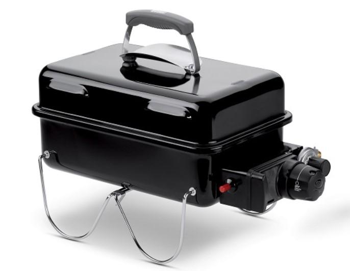 Go-Anywhere er en lille transportabel grill, som du nemt kan have med på farten.