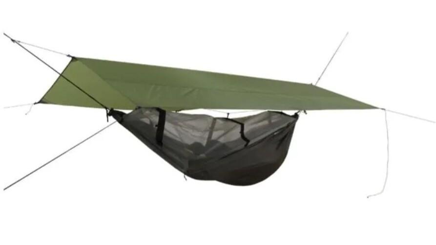 God outdoor hængekøje med regnslag og tarp.
