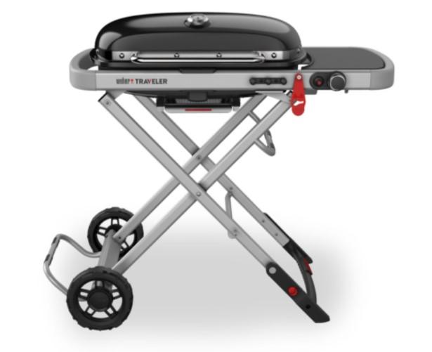 Weber Traveller er en sammenklappelig og transportabel grill.